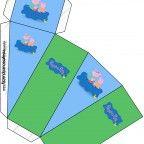 Lindo kit da Família Peppa Pig com vários convites, rótulos, caixinhas e moldes para você fazer a sua festa personalizada! Totalmente gratuito! Basta imprimir e montar!