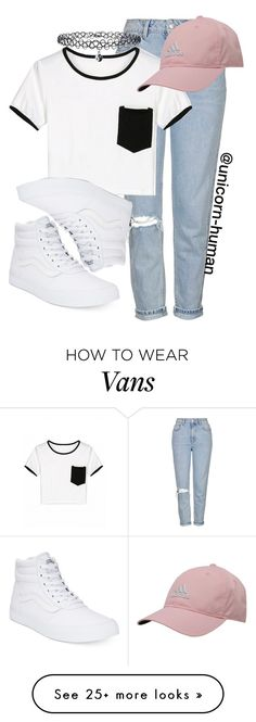 """""""Untitled #1923"""" by unicorn-human on Polyvore featuring Topshop, adidas, Vans and New Look"""