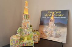 Vtg Peter Spier's 3D Advent Calendar Little Town of Bethlehem DOUBLEDAY 1987