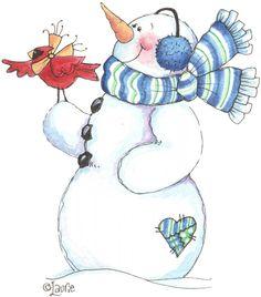 Penguins and friends - Laurie Furnell - puntoceleste - Picasa Web Albums Christmas Clipart, Christmas Printables, Christmas Pictures, Christmas Snowman, Winter Christmas, Frosty The Snowmen, Cute Snowman, Snowman Crafts, Snowman Images
