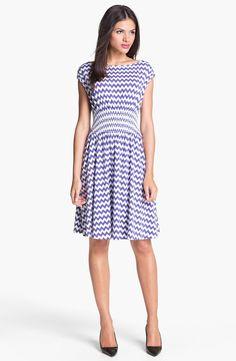 kate spade new york 'leora' chevron stripe cotton dress