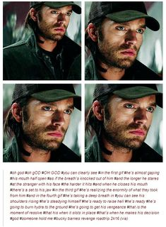 Bucky Barnes character analysis from Marvel's The Winter Soldier. Taken from tumblr.