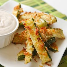 Zucchini fries and seasoned sour cream