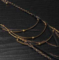 Annie Costello Brown Rib Necklace $271