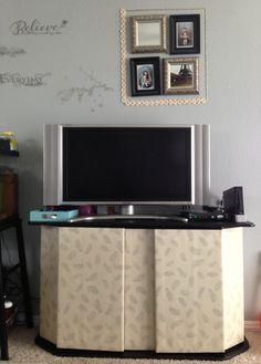 DIY TV stand cover Tv Stand Cover, Diy Tv Stand, Pinterest Diy, Living Room, Building, House, Baby, Design, Home Decor