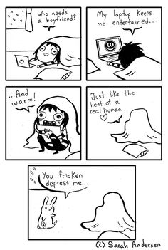 This is for all the people who behave like cats and use their laptops for heat. Also, if you see in the second panel, I've made a little shout out to the humor blog Tastefully Offensive! The guy who runs it, Christian Baker, has had Doodle Time's back since the wayy beginning and I owe a great deal of my success to him. So please go check out that blog if you're looking for more funny stuff :)