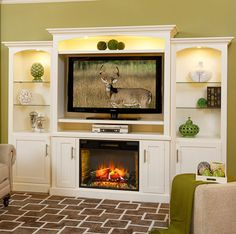 Solid Wood Amish Made Mayfair Fireplace Entertainment Center & Optional Side Towers