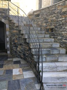 Details of a residential mansion _ landscaping Stone Mansion, Bedroom Lighting, Reuse, Minimalism, Swimming Pools, Restoration, Landscaping, Stairs, Construction