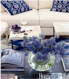 White and blues ~ a classic coastal theme.