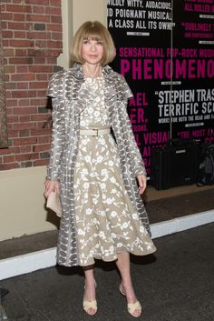 Anna Wintour attends the Broadway opening night of 'Hedwig And The Angry Inch' at the Belasco Theatre