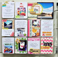 Love Sasha's Project Life Style.  Lots of Washi Tape and bright colors.