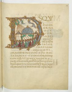 The Drogo Sacramentary — Viewer Medieval Manuscript, Medieval Art, Initial Letters, Letter Art, Illuminated Letters, Illuminated Manuscript, High Middle Ages, Life Of Christ, Bnf