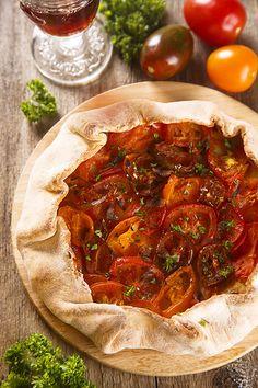 Завтраки, обеды, ужины - Галета с помидорами
