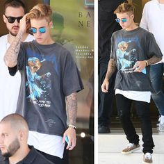 JUSTIN BIEBER SPORTS SHIRT, SHORTS BY FEAR OF GOD AND ...