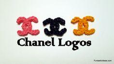 nice Rainbow loom Chanel Logo charm - How to