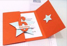#stampinup, #stampinupdeutschland, #basteln, #einladungskarte, stempelliebe, #bastelnmitpapier Stampin` UP! Einladungskarte Kindergeburtstag, Magnetverschluß