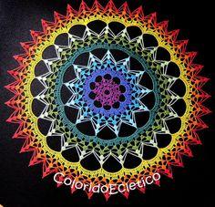 Risultati immagini per mandala de croche receita Crochet Art, Crochet Home, Thread Crochet, Love Crochet, Crochet Motif, Beautiful Crochet, Crochet Crafts, Crochet Doilies, Crochet Stitches