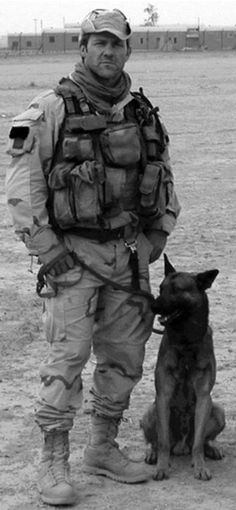 Sgt Major Chris Moyer with Valco who died in battle in Iraq