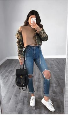 Mode outfits, outfits for teens, spring outfits, college winter outfits, fa Cute Outfits For School, Teenage Outfits, Outfits For Teens, Trendy Outfits, School Wear, School School, Outfits For Dates, Chic Outfits, Baddie Outfits Casual