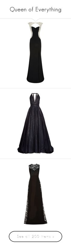 """""""Queen of Everything"""" by mrseclipse ❤ liked on Polyvore featuring dresses, gowns, long dresses, vestidos, jovani evening dresses, jovani gown, long backless evening dresses, backless evening gowns, jovani evening gowns and navy"""