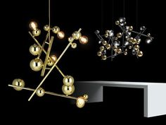 Avant-Garde by nature, the shapes and forms of the NEW Galaxy relate to each other as the planets towards the sun. The artist and the dreamer both know, space is where an image grows. Cluster and combine to create your own universe. Visit our website WWW.BRANDVANEGMOND.COM for more lighting inspiration & dining room lighting ideas and more… #contemporarychandeliers #chandeliersdiningroom #modernluxurylighting#hospitalitylighting#modernchandelier Towards The Sun, Modern Lighting Design, Metal Curtain, Dining Room Lighting, Shape And Form, Lighting Ideas, The Dreamers, Planets, Universe