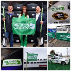 We're going green at Martinsville Speedway! Join the NASCAR Race to Green by visiting NASCAR.com/Green - you can donate a dollar to plant a tree or share a photo to show how you're making a positive impact on the environment using #NASCARGreen. #Padgram @NASCAR