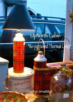 how to make a lamp out of a thermos - Google Search