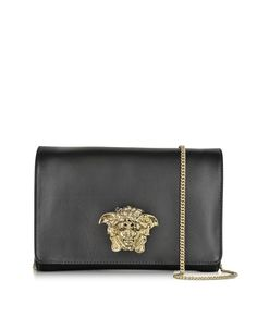 7dc66379fff0 Versace Black Palazzo Leather Crossbody at FORZIERI Leather Crossbody