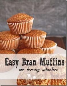 Easy Bran Muffins Recipe-Our Kerrazy Adventure (Muffin Recipes Easy) Donut Muffins, Raisin Bran Muffins, Muffins Blueberry, Cranberry Muffins, Simple Muffin Recipe, Healthy Muffin Recipes, Healthy Muffins, Breakfast Recipes, Breakfast Pastries