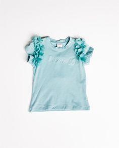 Camiseta pétalos turquesa NEWNESS Camisetas #dadati #kids #fashionkids #fashion #baby #children  #bebe #infant #primavera #summer #ropa #moda #peques #2014 #shop #shoponline #spain #brand