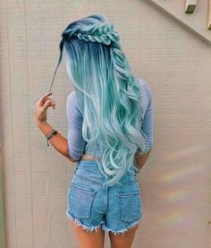 Ideas For Hair Dyed Ombre Color Trends - Hair Color Ideas Dyed Hair Ombre, Dyed Hair Purple, Dyed Blonde Hair, Pastel Hair, Blonde Ombre, Ombre Balayage, Blonde Streaks, Pastel Outfit, Pretty Hair Color