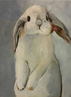 Norma Wilson Original Oil Lop Eared Bunny Rabbit Animal Painting Art, painting by artist Norma Wilson Animal Paintings, Animal Drawings, Art Drawings, Art Paintings, Watercolor Animals, Watercolor Paintings, Original Paintings, Watercolors, Original Artwork