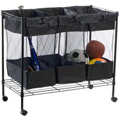 laundry sorter used for sports/play sorter in the garage - brilliant!