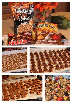 Hershey's Pretzel Chocoloate Halloween Treats Recipe! Nut Free Halloween Treat For Your Halloween Party! - Must Have Mom