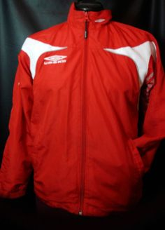 Umbro Official Team Wear Jacket Red Womens M or  Youth L #Umbro #AthleticWindbreakerorjacket