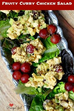 Fruity Curry Chicken Salad #Recipe - RecipeGirl.com