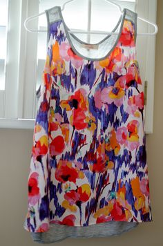 stitch-fix-1-floral-tank ----- I like the watercolor look of the floral. LOVE the bright colors.