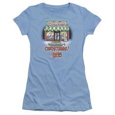 GRANDMA GOT RUN OVER BY A REINDEER THINK CHRISTMAS Juniors Sheer Cap Sleeve T-Shirt