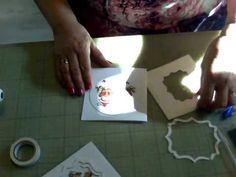 Kerstkaart met cardtopper en uiltjes - YouTube