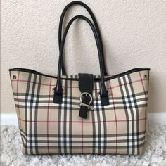 One of my favorite bags out of my Burberry collection. Leather trim shows  signs of wear but not extreme. No trade Burberry Bags Shoulder Bags dbc08239d12f5
