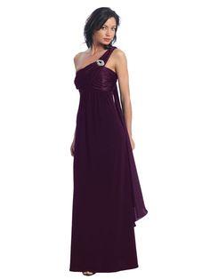 plum bridesmaid dress long