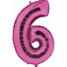 Een rozekleurige folie ballon in de vorm van het cijfer 6 om zelf op te blazen. De ballon is opgeblazen ongeveer 100 cm groot. U kunt de ballon heel gemakkelijk met een ballonpomp opblazen. De ballon heeft diverse ophanghaakjes aan bovenzijde, onderzijde en zijkanten. U kunt de ballon ook zelf vullen met helium welke bij ons in tankjes verkrijgbaar zijn.