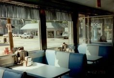 diner, with pickup truck views