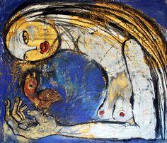 Vertrauen, Zeichnung, Papier, 56 x 48 cm, Oxana Mahnac, 2011