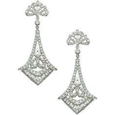 Vivian Jacob CZ Art Deco Earrings (99 CAD) ❤ liked on Polyvore featuring jewelry, earrings, fashion jewelryearrings, art deco jewellery, deco earrings, zirconia earrings, cubic zirconia earrings and zirconia jewelry