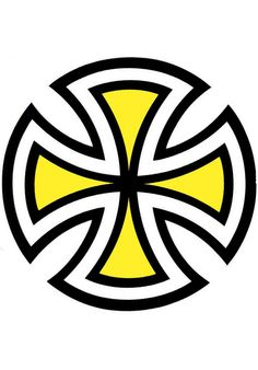 Independent Cut-Cross-Decal, Misc., yellow #Misc. #AccessoriesMale #titus #titusskateshop