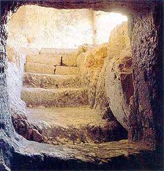 A 1st cent rock tomb - Jerusalem. (600x628. 213kb.)