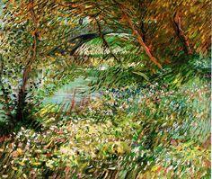 Banks of the Seine with Pont de Clichy in the Spring. Paris: June 1887 (Vincent Van Gogh)