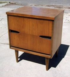 Denver: Mid century 2-drawer nightstand $75 - http://furnishlyst.com ...
