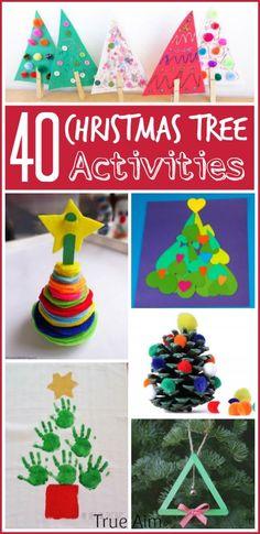 Christmas Tree Activities for Kids via True Aim Education